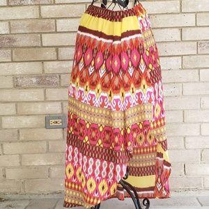 Ashley Stewart 14 16 Skirt Asymmetrical Maxi 1X